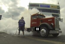 Photo of Video: 16-Year-Old Girl Wins Burnout Contest!