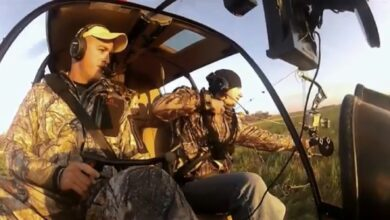 Photo of Video: Hunting Hogs From a Helicopter with a Bow!
