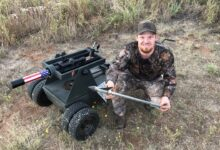 Photo of Video: Shooting Hogs With a Massive 6″ Cannon Fired Broadhead
