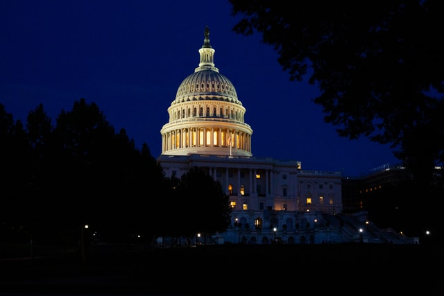 Capital Hill at night